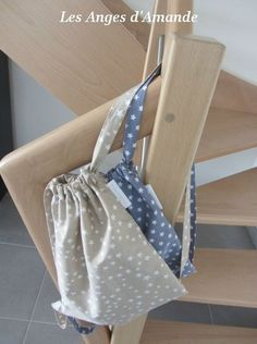 cute, simple drawstring backpack