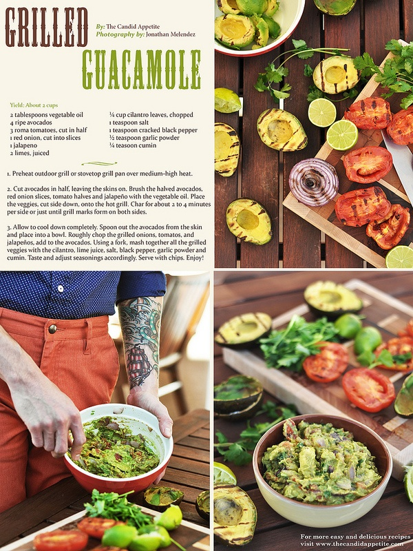 45 best newsletter recipes images on pinterest recipe cards grilled guacamole forumfinder Gallery