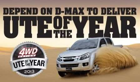 ISUZU D-Max selected best pick-up of the year by Australian Magazine 4WD Action