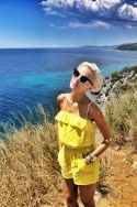 short yellow playsuit, my fav of this summer ! www.janatini.com