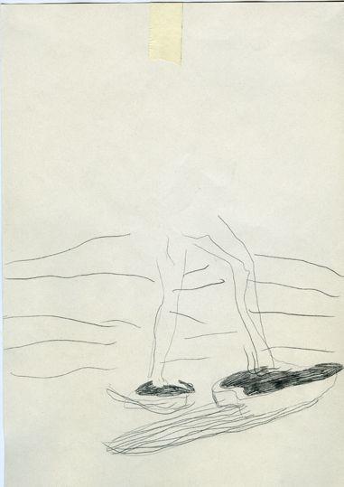 Marcheur 3 / Carbone sur papier, 28x21 cm / 2009     Armelle de Sainte Marie