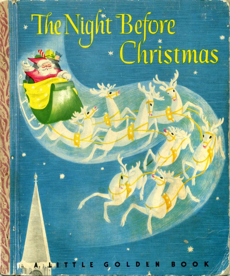 The Night Before Christmas by Clement C.  Moore and illustrated by Cornelius DeWitt,  Simon and Schuster, 1946, C edition