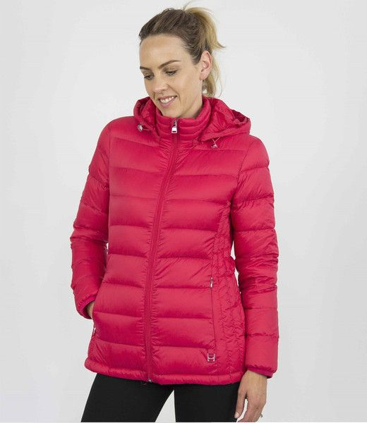 Moke Hooded Quilted Packable Jacket - Lipstick – Sally Anne