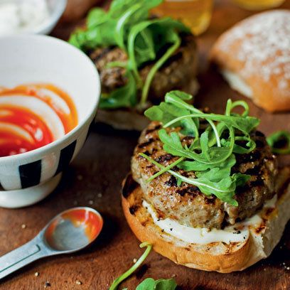 Pork and Apple Burgers Recipe. For the full recipe and more, click the picture or visit RedOnline.co.uk