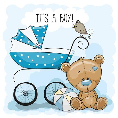 Design cute baby cards vectors set 09