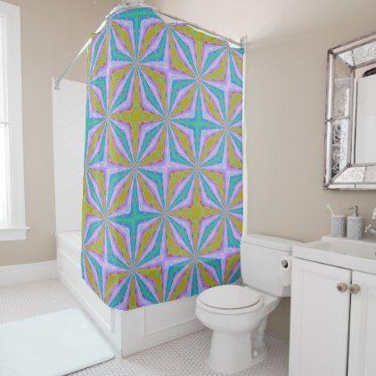 Shimmering Springtime Shower Curtain - patterns pattern special unique design gift idea diy