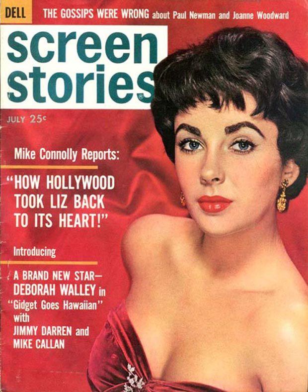 Elizabeth Taylor Dell Magazine creen Stories