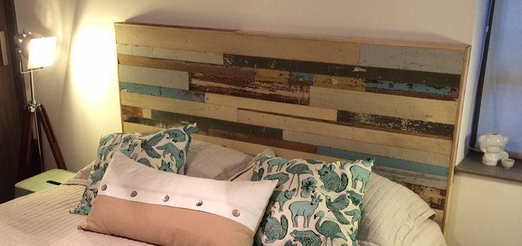 respaldo de madera reciclada