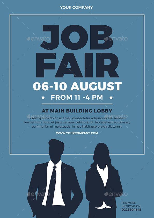 Job Fair Flyer Ad Job Sponsored Fair Flyer Job Fair Job Poster Education Poster Design