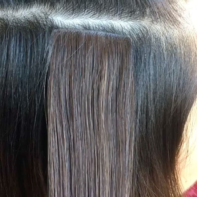 The 25 best tape extensions ideas on pinterest tape hair invisible tape in hair extensions glam seamless invisi tape extensions in stock and selling out fast invisible reusable hair extensions pmusecretfo Image collections