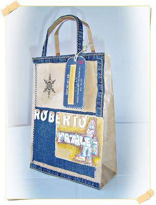 "Le Ghirlande: Serie ""gift scrap bags recycling"" Natale"