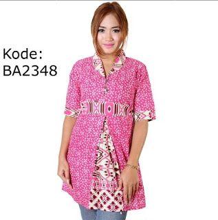 """Batik warna pink dari """"Batik GaleriPos"""""""