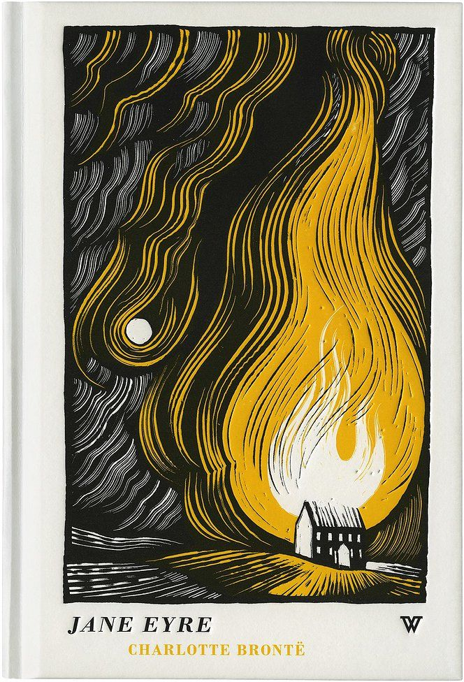 Book cover (Whites book) of Jane Eyre by Charlotte Bronte - Illustration by Joe McLaren #charlottebronte