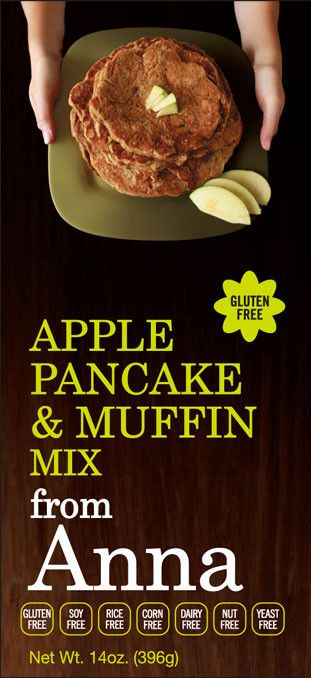 Breads from Anna — Gluten and Yeast Free Apple Pancake & Muffin Mix. Corn, Dairy, Soy, Nut and Rice free too! #glutenfree
