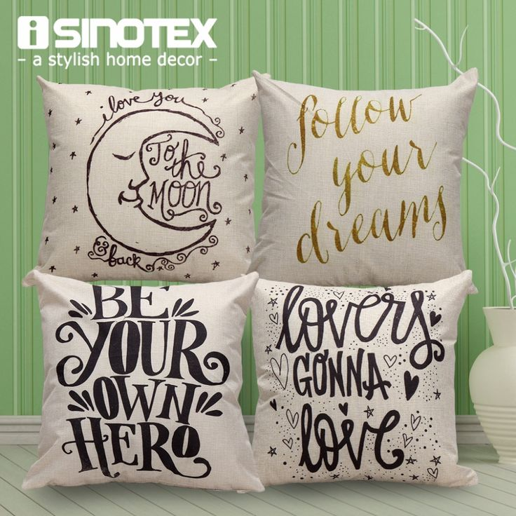 Find More Cushion Cover Information about Home Cushion Cover Decoration Sofa Seat Living Bed Room Linen Throw Pillow Cases With Letters Printing 1 PCS/Lot,High Quality case party,China pillow prints Suppliers, Cheap pillow case from The Home Shop on Aliexpress.com