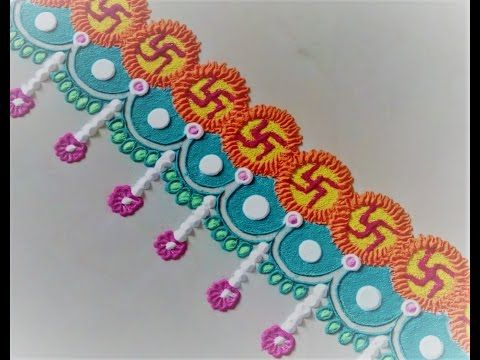 Simple Swastik Border Rangoli Design Using Bangles. - YouTube