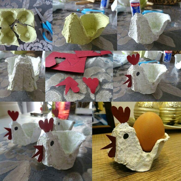 Πασχαλινή κότα από χάρτινη αυγοθήκη  (Easter)