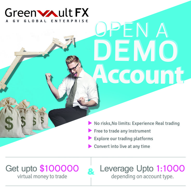 Learn all about our #trading platform by opening a demo account with Greenvault #FX. #Trade using virtual money with zero risk.