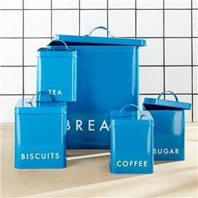 Set Of 5 Square Canisters - Teal | Kmart