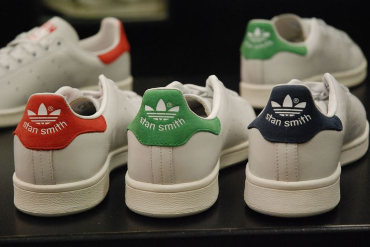 Adidas Stan Smith réédition 2014 en bleu vert et rouge ..