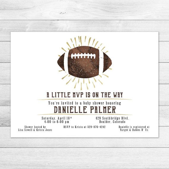 Hey, I Found This Really Awesome Etsy Listing At Https://www. Football Baby  Shower InvitationsDigital ...