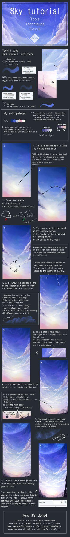 Cloudy sky tutorial by Atelity.deviantart.com on @DeviantArt