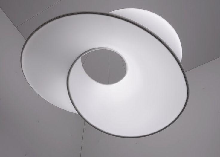 Ross Lovegrove exhibits sculptural lights in Barrisol pavilion at Biennale Interieur 2014.