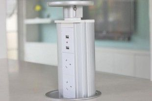PowerTower White Model USB Powerpoint and powerpoints in a benchtop or office