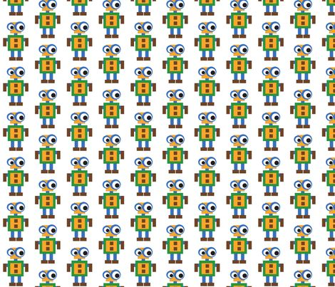 Robot fabric by mofje on Spoonflower - custom fabric