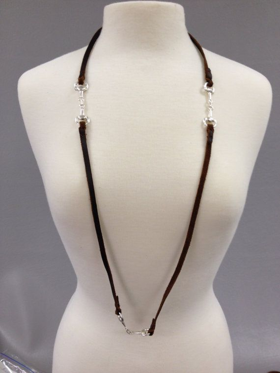 Love Bits Kodiak Leather Necklace, Equestrian Tack Store, Horse Riding Style