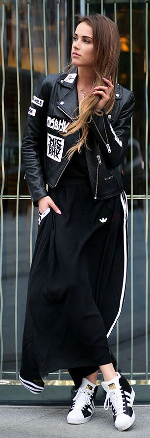 Maffashion Black And White Rebel And Sporty Fall Inspo