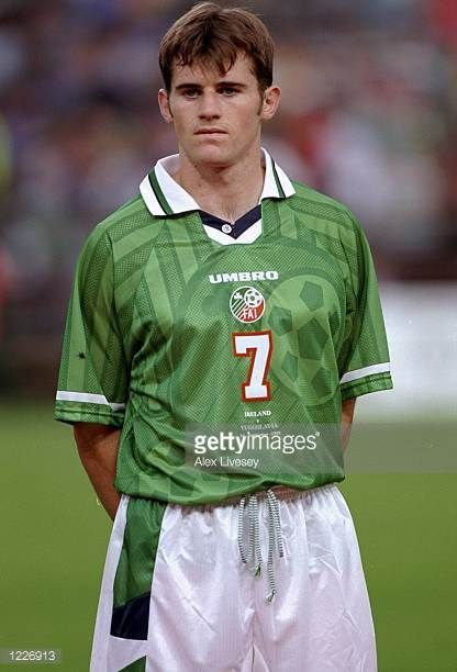 Kevin Kilbane of the Rep of Ireland lines up prior to the match between the Republic of Ireland and Yugoslavia in the European Championship...