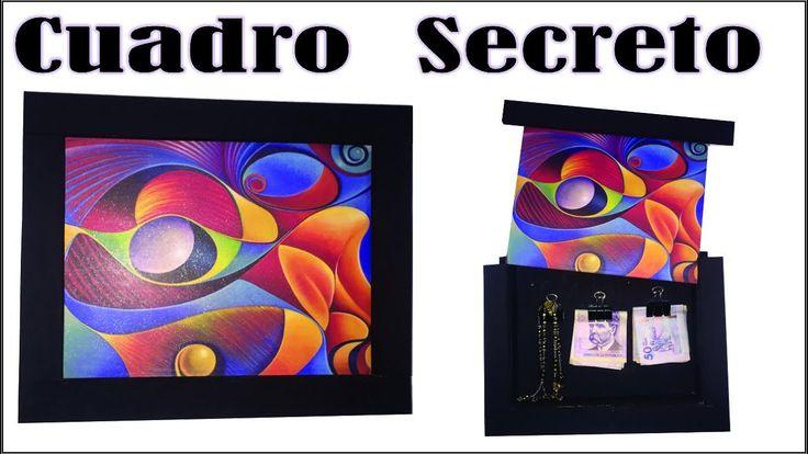 Hacer Cuadro Secreto en mdf trupan fibrofacil tutorial diy sencillo de h...