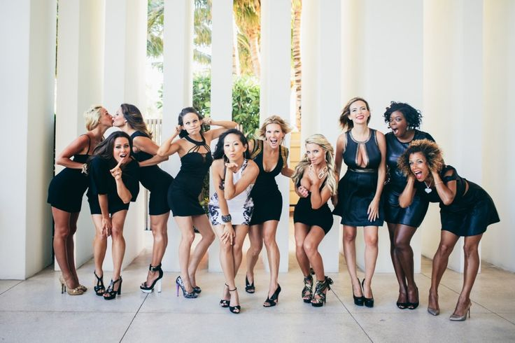 Bachelorette Weekend in Miamia W Hotel Photoshoot with the girls before big night out
