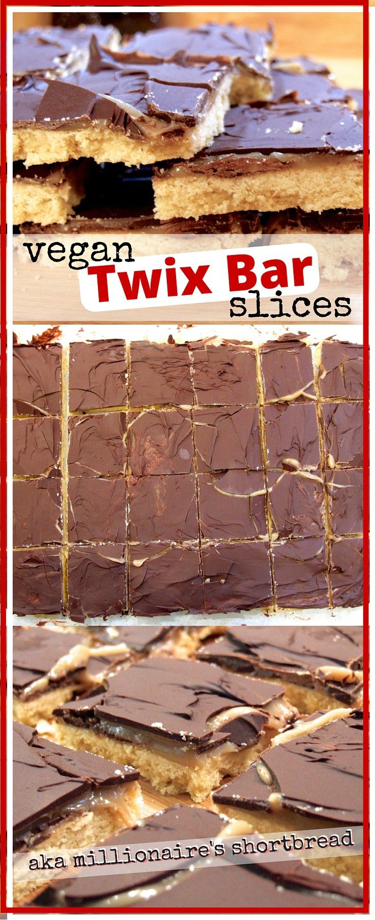 Crumbly shortbread biscuit, gooey dairy-free caramel and luscious dark chocolate. These gorgeous vegan millionaire's shortbread slices are a sure-fire hit! (Parve)