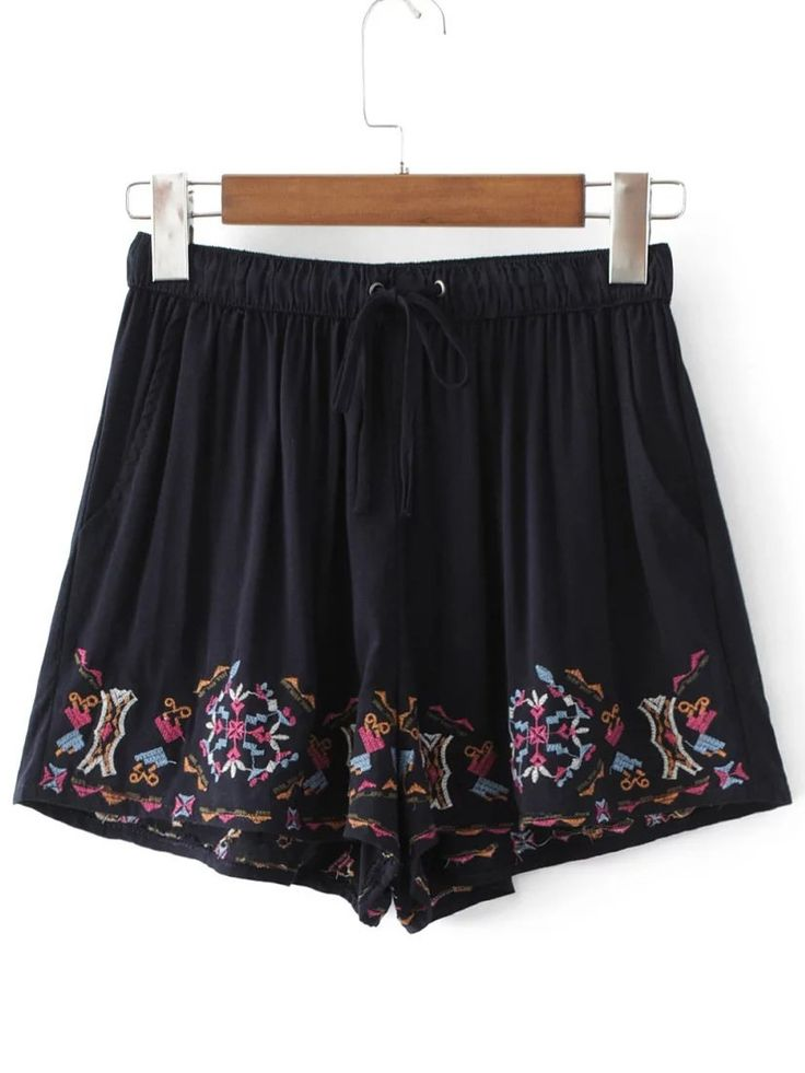 Shop Drawstring Waist Embroidery Shorts online. SheIn offers Drawstring Waist Embroidery Shorts & more to fit your fashionable needs.