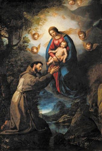 Apparizione della Madonna a san Francesco (1618; Firenze, Galleria Palatina di Palazzo Pitti)