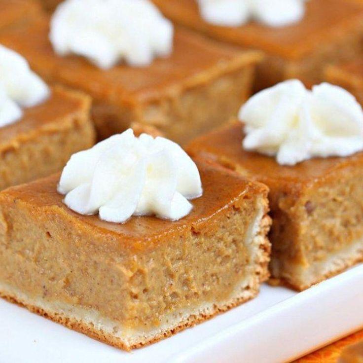 pumpkin Pie bars (Pillsbury.com)