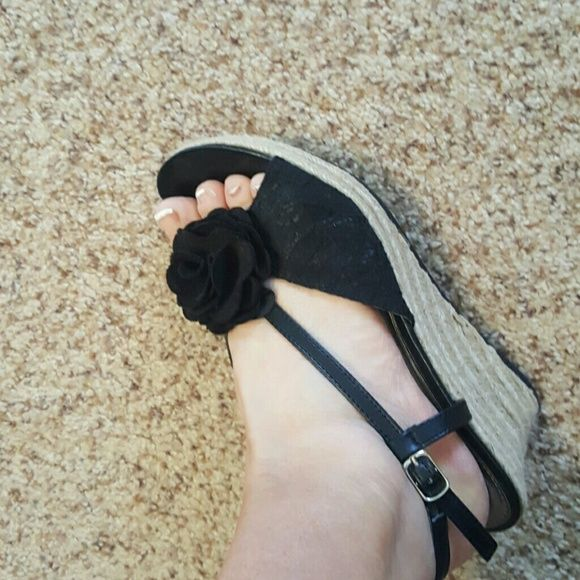 Sandals Wedge style like new! Shoes Sandals