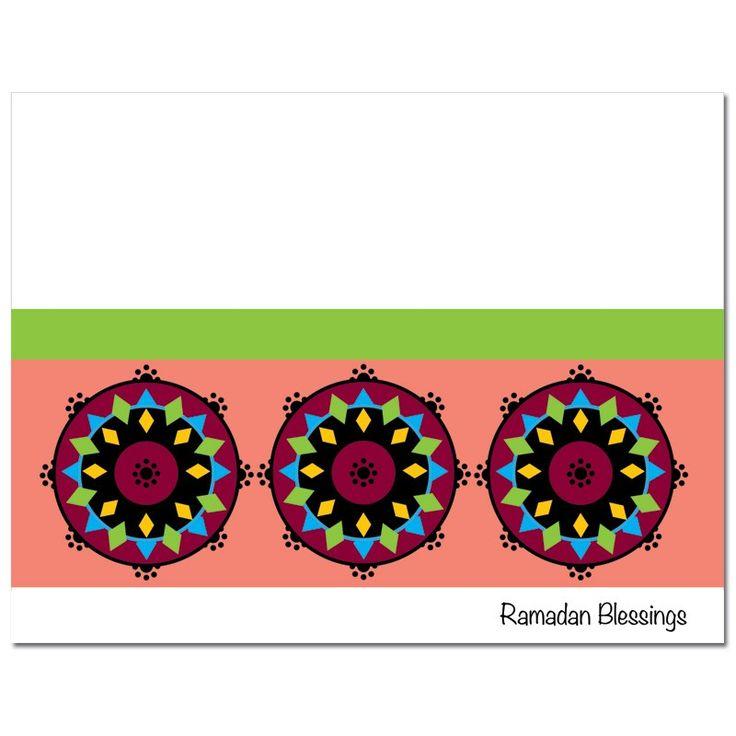 Festive & Elegant Ramadan Mubarak Greeting Cards by #Soulfulmoon- Block Whirls