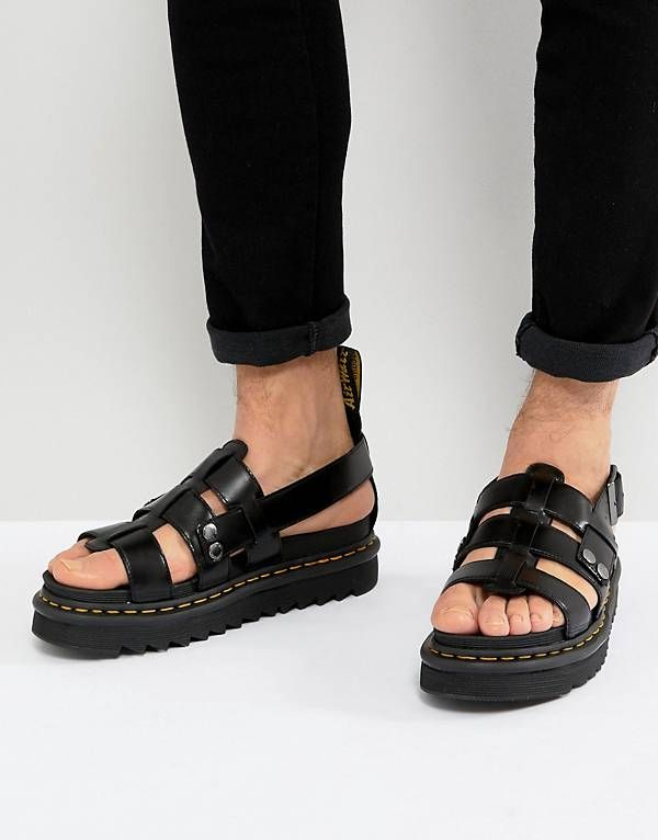 204f5168bc Dr Martens Terry Strap Sandals In Black | fashion in 2019 | Dr ...