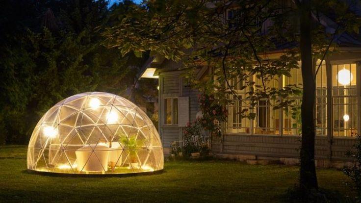 Необычная прозрачная беседка в форме шара от Igloo. Красивые интерьеры и дизайн
