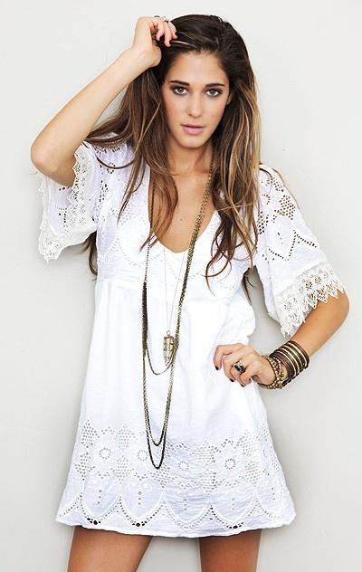 loooooove.: Summer Dresses, Fashion, Style, Clothing, Outfit, White Lace Dresses, Long Necklaces, Little White Dresses, Boho Dress