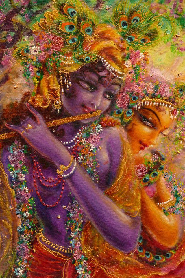 Krishna can only be approached through Goddess Radha, his consort and the personification of mercy & love.