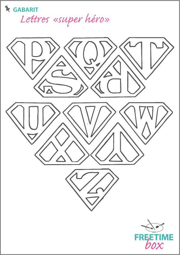 Lettres super hero P à Z