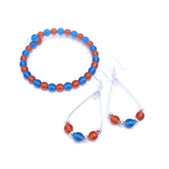 A custom jewelry set in her favorite sports team colors is a gift she is sure to cherish.