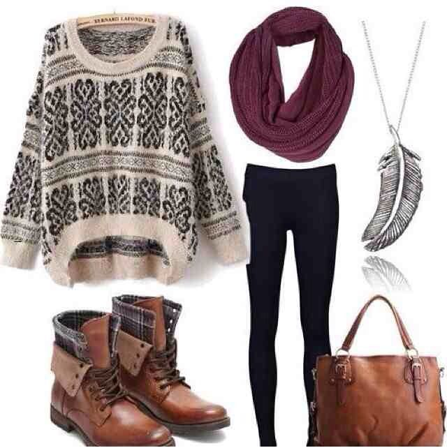 This is an awesome look for winter, love the boots and jumper!