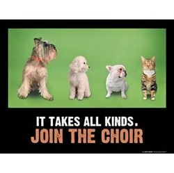 CHOIR. . . IT TAKES ALL KINDS Poster - music in motion