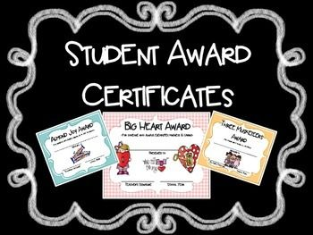 40+  UNIQUE Student Award Certificates for Any Time of Year....great incentives...my students beg for them!
