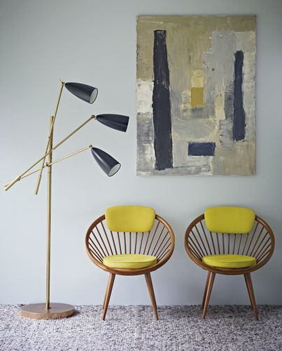 Skylon Grey matt emulsion from the Mid Century Colours by Kevin McCloud range